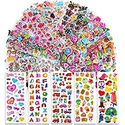 VINFUTUR 50 Blatt 3D Aufkleber Geschwollen Stickers Cartoon Selbstklebend Aufkleber Scrapbooking Stickers für Karten Sammelalbum Fotoalbum Handbuch Basteln DIY Handwerk