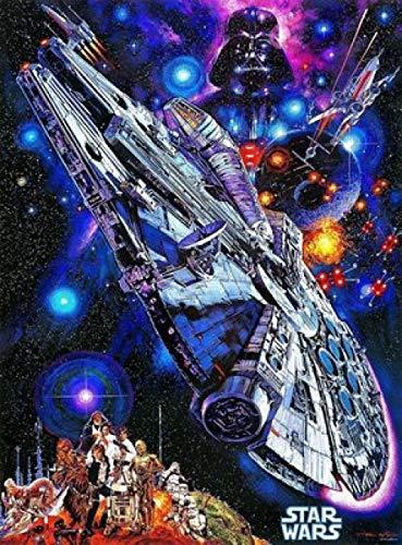 Yzqxiongtu Star Wars Millennium Falcon Jigsaw Puzzles 1000 Piezas, Rompecabezas de Madera, Adultos, niños, Familia, Juegos de Rompecabezas