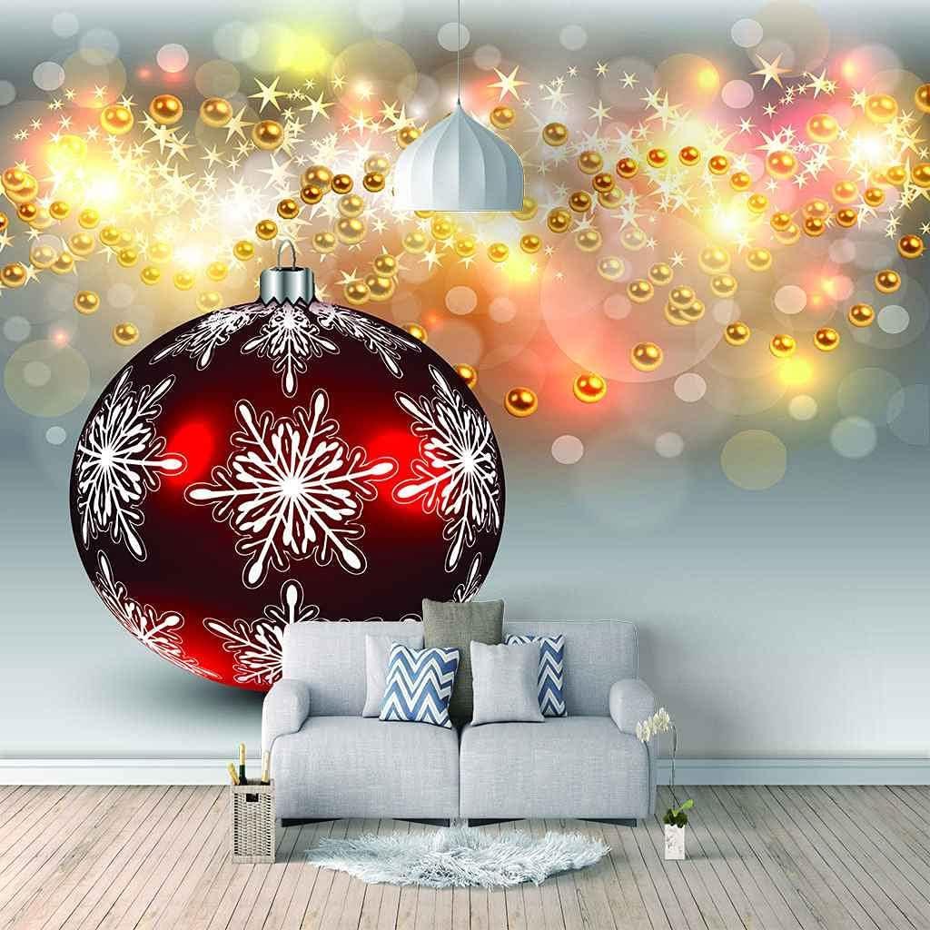 depot HWCUHL Wall Stickers Long Beach Mall Kids Bedroom Christmas Art Ball Canvas Red