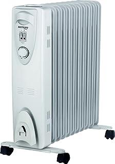 Bastilipo RAC 11-2500W Radiador de Aceite térmico-2500W con 11 Elementos radiantes y humidificador Natural Incluido, 2500 W, Acero, Blanco