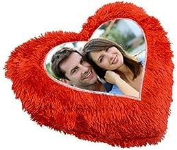 Mukesh Handicrafts Long Fur Personalized Crush Cushion with 1 Photo (Standard Size)