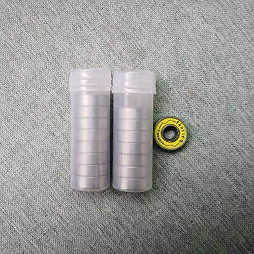Reibungsfreie Kugellager, ILQ9 608 Lager for Inline Skates Skateboard Scooter ILQ9 Lager for Slalom FSK Eisschnelllauf mit Eisen-Box (Size : 16 Yellow)