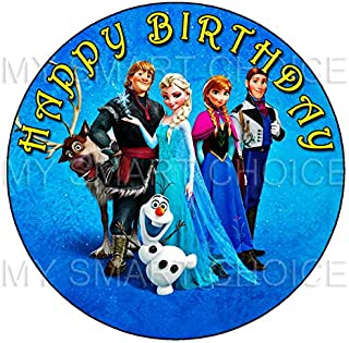 7.5 Inch Edible Cake Toppers – Frozen Themed Birthday Party Collection of Edible Cake Decorations