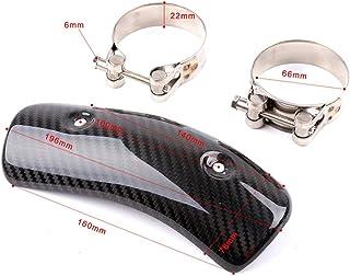 Accesorios de la Motocicleta Moto Partes modificadas de Escape Delantero Tubo Protector de Calor Modificación Accesorios Negro General de la Motocicleta Fibra de Carbono,