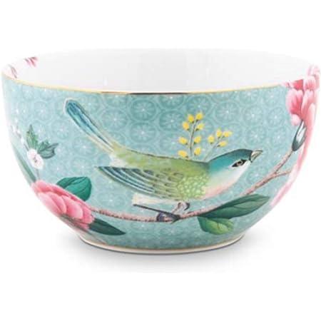New Bone China Mehrfarbig 2er Set 250 ml Geschenk Sch/älchen Sch/üssel PPD Aquarell Hearts /& Flowers M/üslischalen 603132 Schale