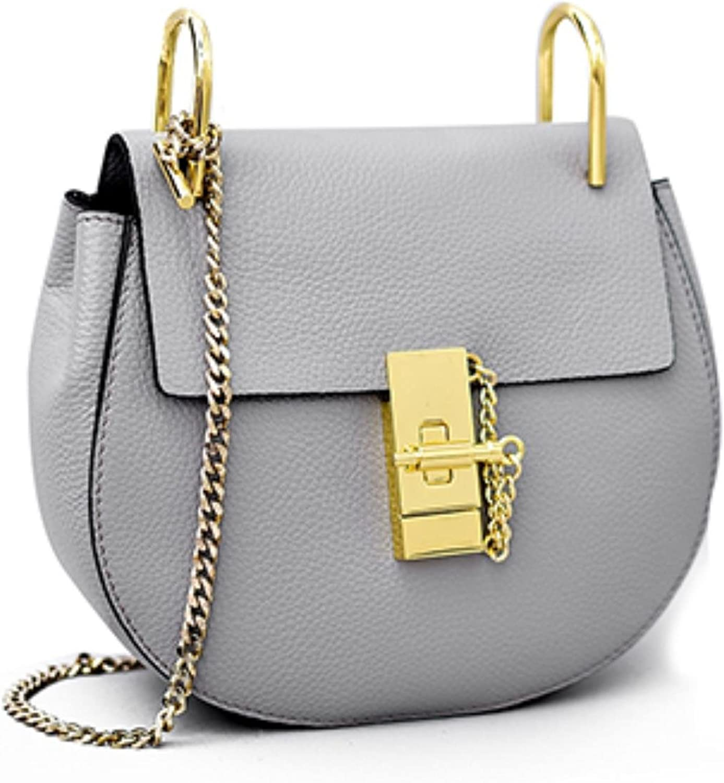 Real Spilt Leather Women Handbags Sac Tassen Crossbody Bags Chains New Small Leather Bag