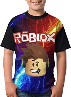 Ro-blox Youth Boys Girls 3D Printed Casual Short Sleeve Funny Round Neck Tee Top T Shirt