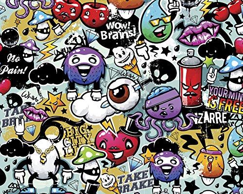 OhPopsi WALS0004 Graffiti Monster Wall Mural, Multi-Color