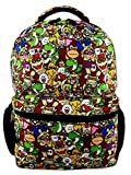 Nintendo Super Mario Brothers Boys Girls Teen 16' School Backpack (One Size, Black/Multi)