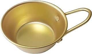 Makgeolli bowls, Aluminum Korean Traditional Bowls for Makgeolli(Korean Raw Rice Wine) Hiking Soup dish, Made in Korea (Hand)