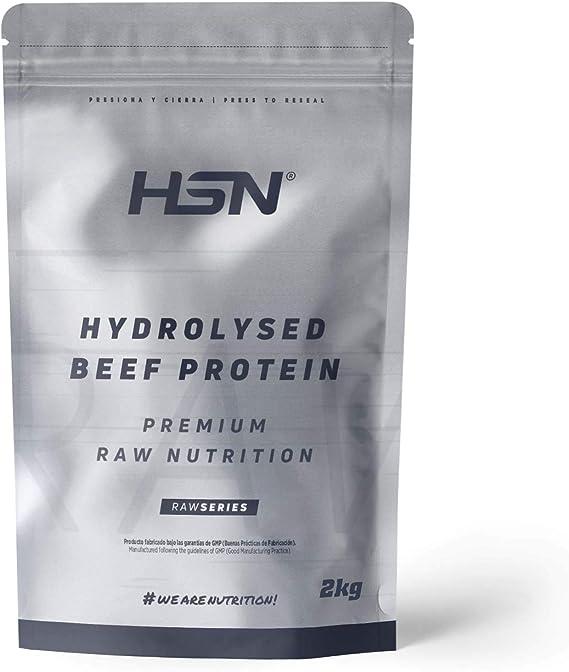 HSN Proteína Hidrolizada de Carne Bovina Beef Protein   con HydroBEEF   Sin Gluten, Sin Lactosa, Sin Soja, Sin Edulcorante, Sin Sabor, En Polvo, 500 g