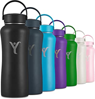 DYLN Insulated Water Bottle | 32 oz (950 mL) | Creates Premium Alkaline Water On-The-Go | Keeps Cold for 24 Hours | Stainless Steel Reusable Bottle | Handle Cap | Multiple Colors