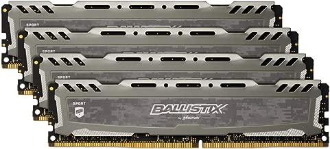 Crucial Ballistix Sport LT 3000 MHz DDR4 DRAM Desktop Gaming Memory Kit 32GB (8GBx4) CL15 BLS4K8G4D30AESBK (Gray)