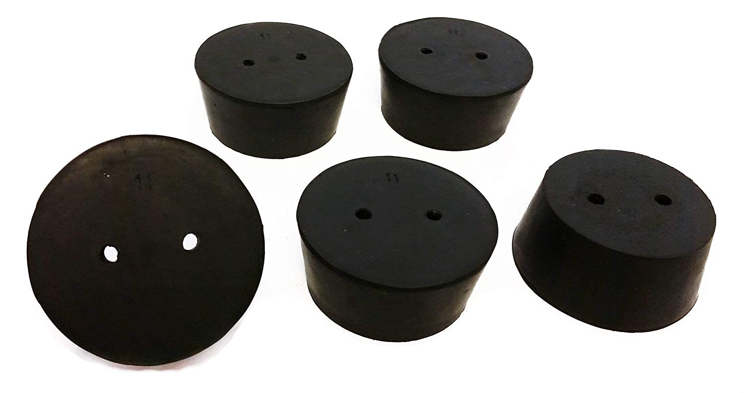 GSC International RS-11-2 Rubber Stoppers Branded goods Size 11 2-Ho discount Drilled