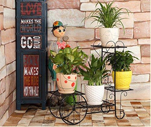 balcon voyantes Salon de fleurs de fer salon balcon intérieur étagères à fleurs multi - étages Plantes d'extérieur Présentoir ( taille : 70*23*66cm )
