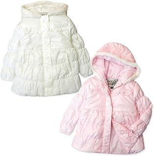 子供服 女の子 アウター フルジップ コート 中綿 無地 Dolly Ribbon ドーリーリボン フリル リボン マジックテープ フード 女児 キッズ
