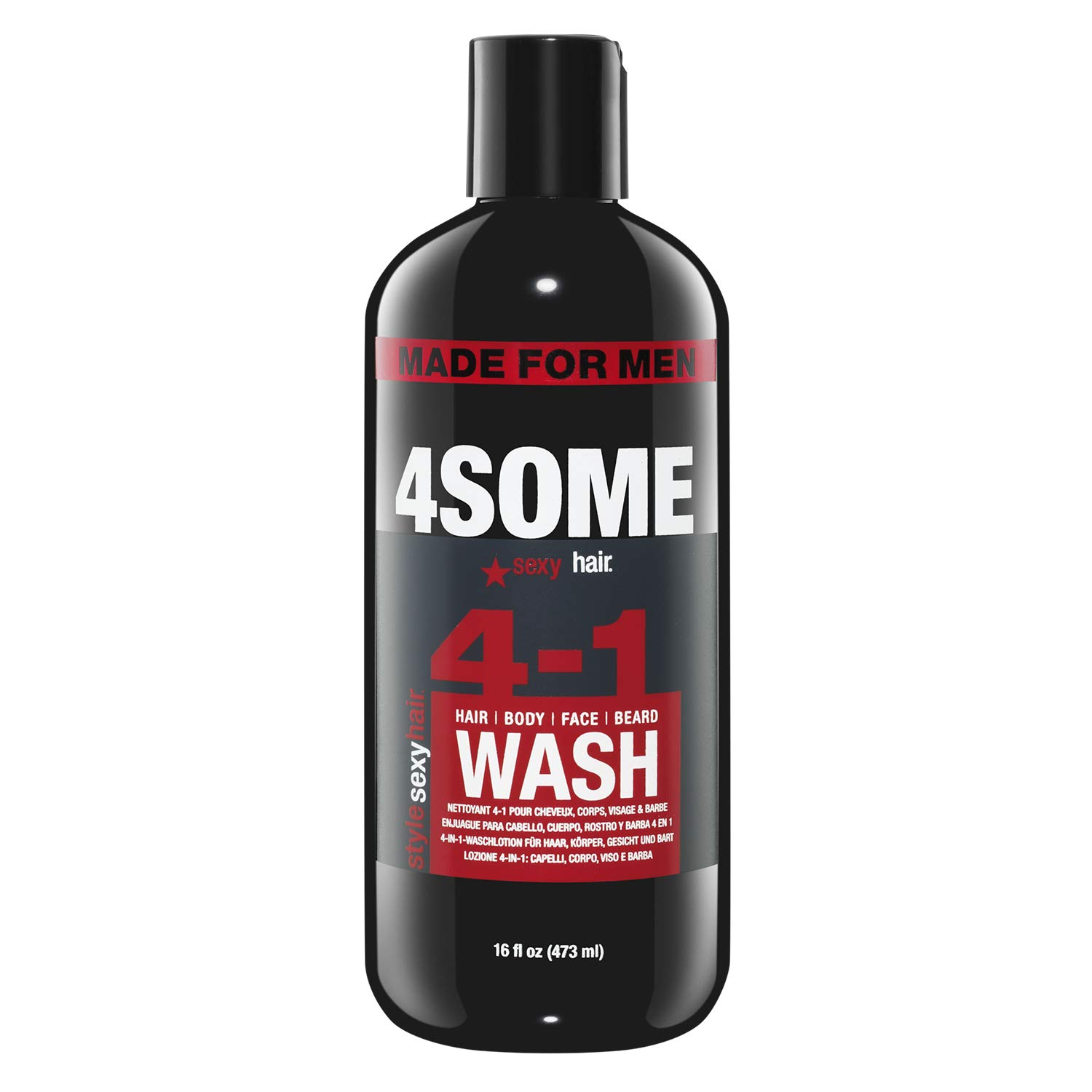 SexyHair Free Shipping New Style 4some 4-in-1 Hair Body Wash 16 Beard Oakland Mall Face Oz