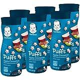 Snack de cereales graduates puffs apple cinnamon de gerber, 40 g (paquete de 6 unidades)