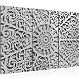 Tabla decoración de la pared de la mandala - 120 x 80 cm Vista de impresión en lienzo Salón Apartamento - listo para colgar - 506131a