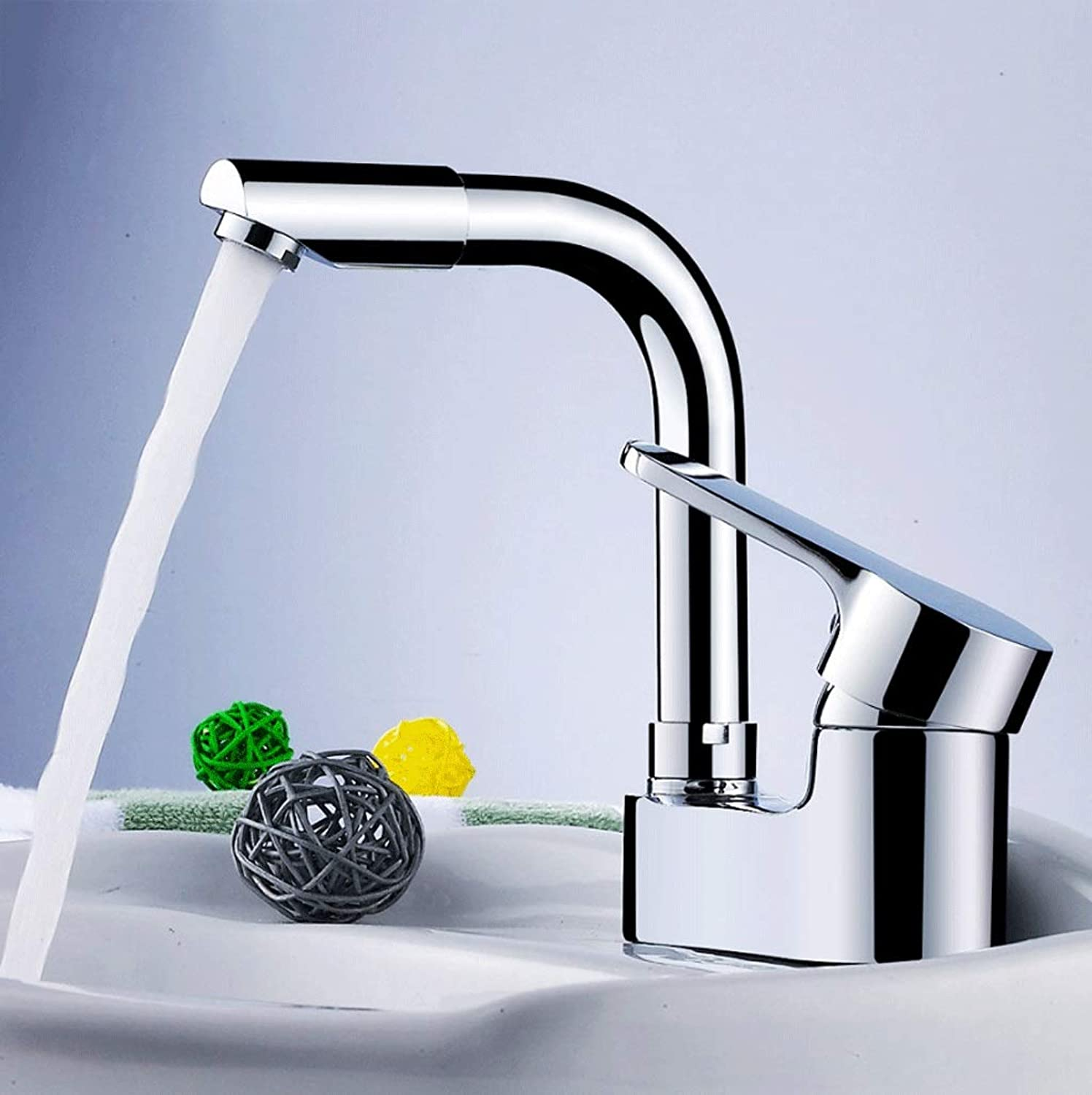 All-copper Double-hole Basin Hot And Cold Water Faucet Can redate Three Holes Of Water
