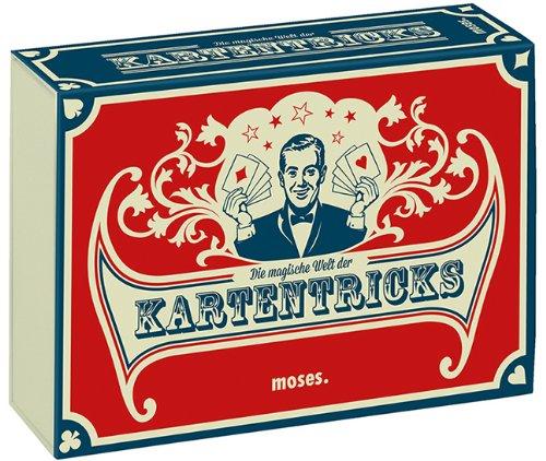 moses. 28036 Die magische Welt der Kartentricks | 33 Zaubertricks mit Karten | Inkl. 32 Blatt SkatKartenset