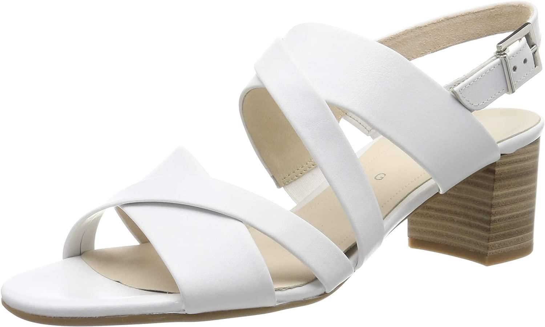 Gabor sautope Comfort moda, Seali con Cinturino tuttia Caviglia Donna, Bianco (Weiss 50), 38 EU