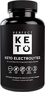 Perfect Keto Electrolyte Pills - Supports Hydration and Recovery | Supplements for Low Carb or Keto-Friendly Diet - Essent...