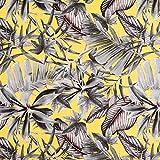 Fabulous Fabrics Canvas Dekostoff Blätter – gelb —