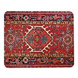 Wozukia Mouse Pad for Laptop Computer Antique Oriental Turkish Carpet Pattern Print Red Gaming Mouse Mat Non-Slip Rubber Base Mouse Pads Gift for Women Men Friends Colleagues 9.5x7.9 Inch