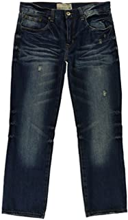 Ecko UNLTD Mens Loose Fit 5 Pocket Long Bottom Denim Jean