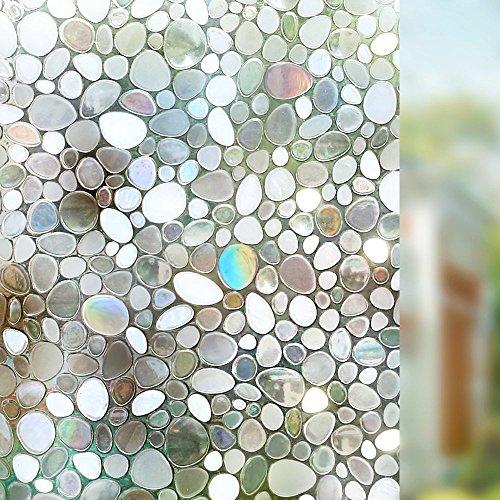 LMKJ Película de Vidrio translúcido de guijarros Que se UNE, no pegajosa, protección UV, Oficina, Cocina, Pasillo, película A94 50x100cm
