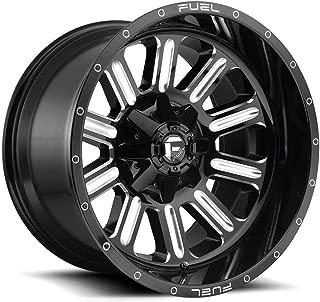 20x9 FUEL Hardline D620 Gloss Black Milled 8x6.5 20 offset