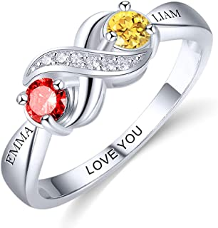 mothers ring silver
