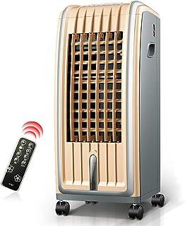 BD.Y Ventilador de Aire Acondicionado Mando a Distancia frío y Calor, Ahorro de energía Temporizador silencioso Ventilador de enfriamiento de Agua móvil (Color: marrón Claro)