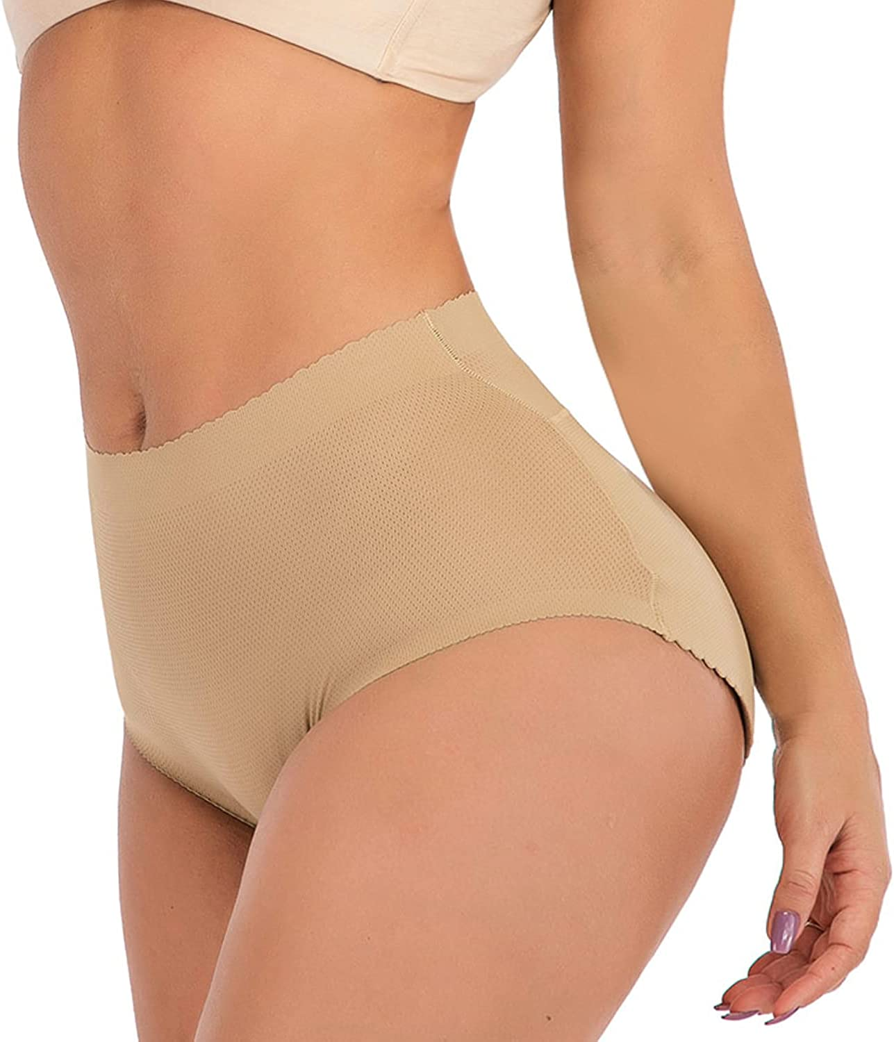 Padded Panties with Butt Lift Hip Enhancer Underwear Boy Shorts Body Shaper Panties with Tummy Control