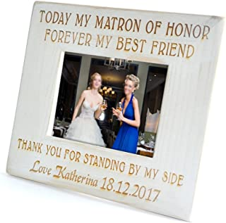 CLS wedding Bridesmaid Picture Frame Gift, Personalized Picture Frame, Bridal Party Gift,Maid of Honor Picture Frame, Friendship