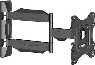 Invision Supporto TV - Ultra Sottile Montaggio Supporto da Parete per TV LED, LCD, HDR, 4K 26 - 42 Pollici - Inclinabile Girevole Orientabile Staffa - Max VESA 200x200mm (A1/HDTV-M)