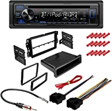 CACHÉ KIT3069 Bundle with Complete Car Stereo Installation Kit with Receiver – Compatible with 2012–2015 Chevy Captiva Sport – Single Din Radio Bluetooth CD/AM/FM Radio, Dash Mounting Kit (5Item)
