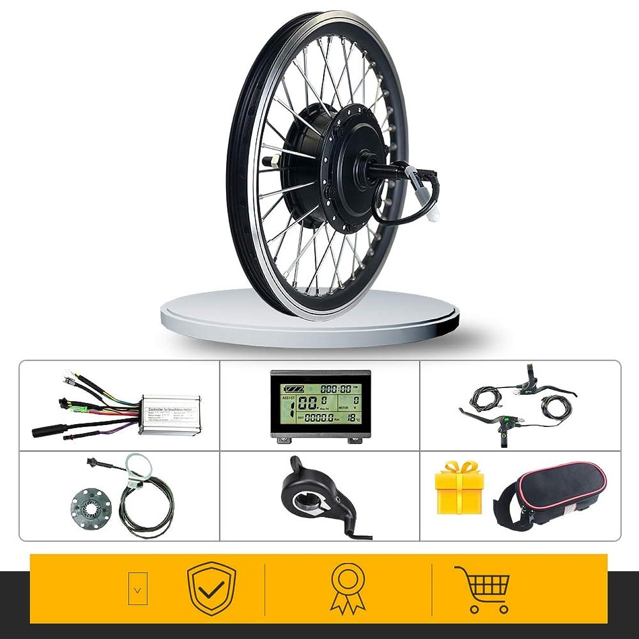 いつもご飯仲間電動自転車変換キット36V48V 250Wリア回転ハブモーターホイール16-29インチ700C Ebike変換キット用LCD3ディスプレイ