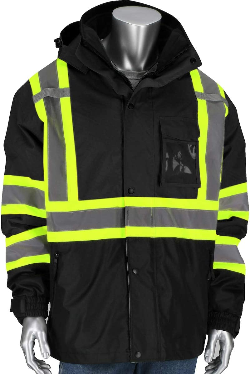 PIP 3 In 1 Class 3 Ripstop Two Tone Jacket with Removable Grid Fleece Inner Jacket 331-1772 Black S