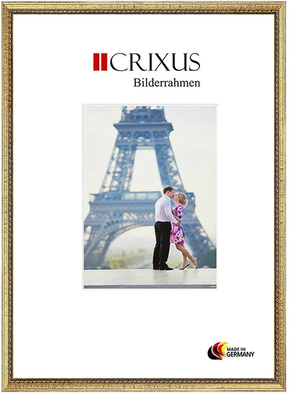 CRIXUS Crixus26 Marco de Fotos de Madera SóLIDA para 27 x 64 cm Fotos, Color  oro, con Vidrio acrílico antirreflectante (1mm), Ancho del Marco  26mm, Tallas externas  30,4 x 67,4 cm