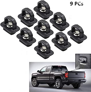 Tie Down Anchors 9Pcs Truck Bed Side Wall Anchor fit for 07-18 Chevy Silverdo/GMC Sierra,15-18 Chevy Colorado/GMC Canyon D...