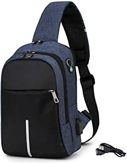 Anti Theft small Chest bags for women,Men Pocket Bag,Usb Sport Travel Sling Bag