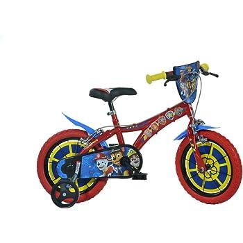 Dino Bikes 614-PW Paw Patrol Bike, Rojo, 14 Pulgadas: Amazon.es: Juguetes y juegos