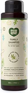 ecoLove Natural Shampoo with Organic Cucumber Spinach and Parsley for All Hair Types, Vegan Shampoo for Women Men Kids Bab...
