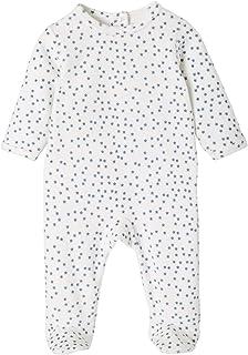 Vertbaudet - Pijama de terciopelo para bebé, diseño de estrellas, color marfil, 12 m – 74 cm