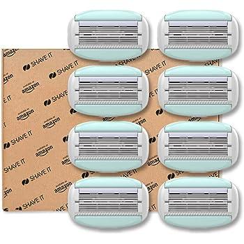 Shave It - Testine 6 lame per rasoio da donna, confezione da 8
