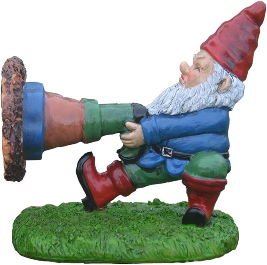 Yeahii Funny Garden Gnome 70% OFF Outlet Resin Ranking TOP11 Statues Trapped Ornament Novelty