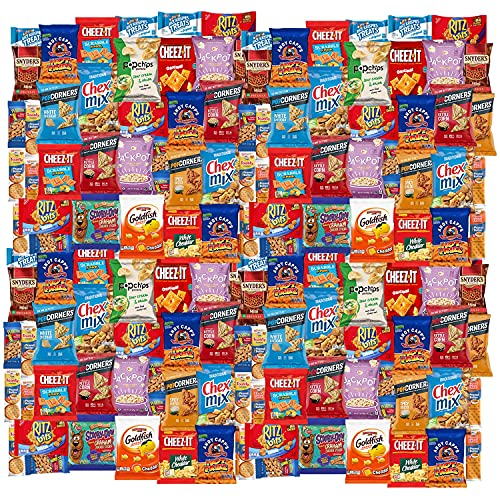 Snack Chest Snacks Care Package Gift Assortment Sampler Mixed Chips and Snacks for Office, Military, College, Meetings, Schools, Friends & Family (100 Count)