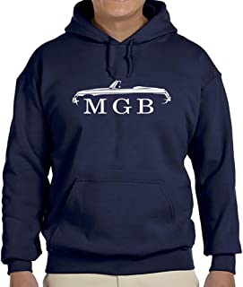 MG MGB Convertible Sports Car Classic Outline Design Hoodie Sweatshirt